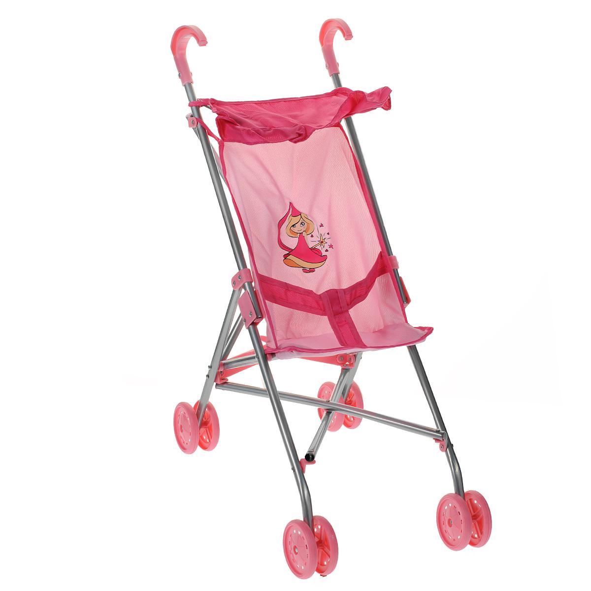 Коляска-трость прогулочная Mary Poppins Феечка, цвет: розовый67113Легкая складная коляска-трость для кукол Mary Poppins Феечка очень компактна, удобна в эксплуатации и комфортабельна. Каркас коляски выполнен из облегченного металла, элементы из ткани легко снимаются для стирки. На сиденье имеются специальные ремни, чтобы кукла не упала. Прогулочная коляска оснащена козырьком, двумя удобными ручками и маневренными колесами. Коляска-трость легко складывается, в сложенном виде занимает мало места, поэтому ее удобно хранить. Играть с коляской можно как в помещении, так и на улице, что несомненно порадует вашу малышку, ведь теперь свою любимую куклу она сможет брать с собой на прогулки! Игрушка предназначена для сюжетно-ролевых игр, способствующих развитию фантазии, формированию эмоциональной отзывчивости и социализации ребенка.