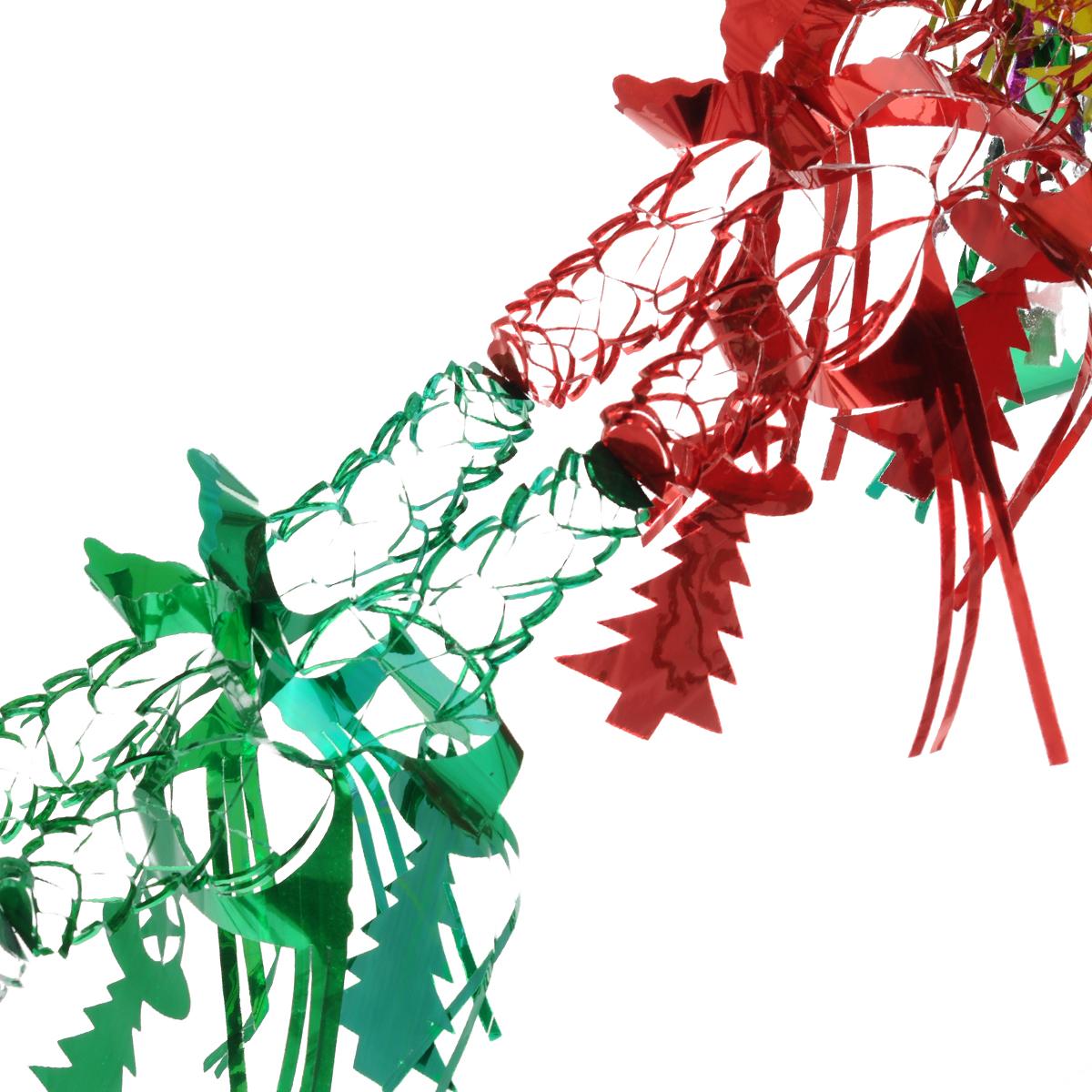 Новогодняя гирлянда Елочка с бахромой, цвет: мульти, 2,2 м. 3438234382Новогодняя гирлянда прекрасно подойдет для декора дома или офиса. Украшение выполнено из разноцветной металлизированной фольги. С помощью специальных петелек гирлянду можно повесить в любом понравившемся вам месте. Украшение легко складывается и раскладывается. Новогодние украшения несут в себе волшебство и красоту праздника. Они помогут вам украсить дом к предстоящим праздникам и оживить интерьер по вашему вкусу. Создайте в доме атмосферу тепла, веселья и радости, украшая его всей семьей.