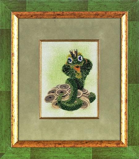 Канва с рисунком для вышивания бисером Alisena Змейка, 12 х 16 см В1062383155Ткань с рисунком для вышивания Alisena Змейка изготовлена из атласа. Рисунок-вышивка, выполненный на такой ткани, выглядит очень оригинально. Вышивка выполняется в технике бисерная гладь бисером Preciosa №10 (Чехия). Вышивание отвлечет вас от повседневных забот и превратится в увлекательное занятие! Работа, сделанная своими руками, создаст особый уют и атмосферу в доме и долгие годы будет радовать вас и ваших близких, а подарок, выполненный собственноручно, станет самым ценным для друзей и знакомых. Рекомендуемое количество цветов: 7. УВАЖАЕМЫЕ КЛИЕНТЫ! Обращаем ваше внимание, на тот факт, что рамка в комплект не входит, а служит для визуального восприятия товара.