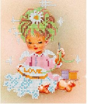 Канва с рисунком для вышивания бисером Alisena Девочка, 13 х 16 см 699983699983Канва с рисунком для вышивания бисером Alisena Девочка изготовлена из атласа. Вышивка выполняется в технике Монастырский шов бисером Пресиоза № 10 (Чехия). Создайте свой личный шедевр - красивую вышитую картину. Работа, выполненная своими руками, станет отличным подарком для друзей и близких!