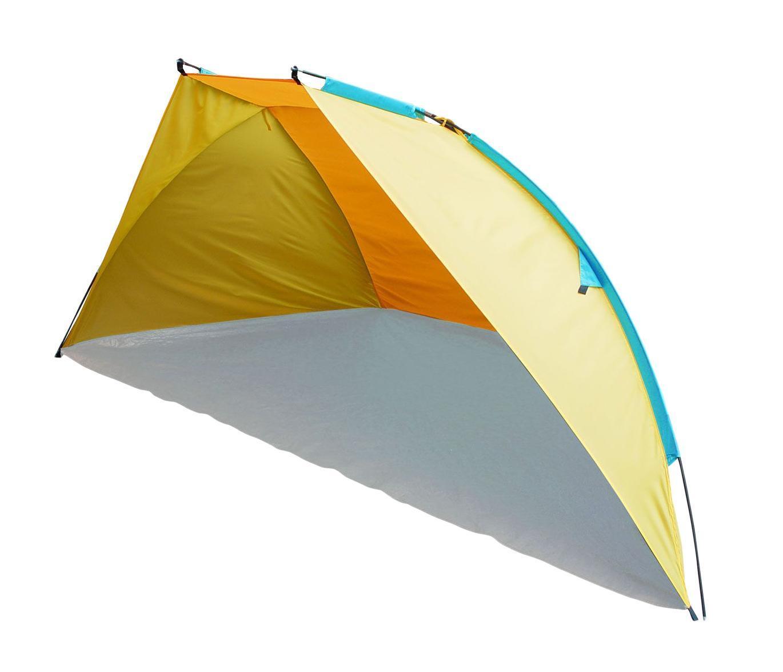 Тент пляжный TREK PLANET Carribean Beach, цвет: желтый, оранжевый, 270 см х 120 см х 120 см70259Однослойный пляжный тент TREK PLANET Carribean Beach, обеспечивает защиту от солнца, ветра и даже легких осадков - особенно полезен для очень маленьких детей. Очень прост в установке, имеет малый вес и удобный чехол с ручкой для переноски. Особенности модели: - Простая и быстрая установка - Тент палатки из полиэстера, с пропиткой PU водостойкостью 500 мм - Каркас выполнен из прочного стекловолокна - Дно изготовлено из прочного армированного полиэтилена - Утяжеляющий карман для песка для устойчивости тента - Растяжки и колышки в комплекте.