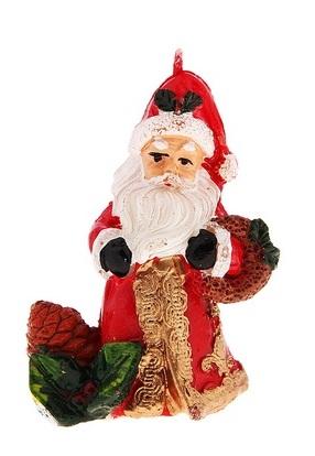 Свеча декоративная Sima-land Дед Мороз. 680349680349Свеча декоративная Sima-land Дед Мороз - отличный подарок, подчеркивающий яркую индивидуальность того, кому он предназначается. Свеча выполнена из высококачественного воска в форме Деда Мороза с игрушками. Такая свеча украсит интерьер вашего дома или офиса в преддверии Нового года. Оригинальный дизайн и красочное исполнение создадут праздничное настроение. УВАЖАЕМЫЕ КЛИЕНТЫ! Обращаем ваше внимание на возможные изменения в дизайне некоторых деталей товара. Поставка осуществляется в зависимости от наличия на складе. Материал: воск. Размер свечи (без учета фитиля): 6 см х 3,5 см х 7 см.