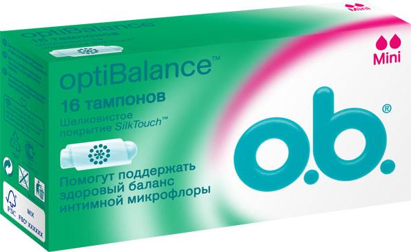 O.B. Тампоны OptiBalance Mini, с шековистым покрытием, 16 шт70305Тампоны О.В. Опти Баланс объединяют технологию спиралевидных желобков и покрытие SilkTouch для дополнительного комфорта и надежной защиты. Компонент натурального происхождения GML (glycerol monolaurate) способствует сохранению естественного баланса вагинальной микрофлоры. Для дней со слабыми выделениями. Товар сертифицирован.