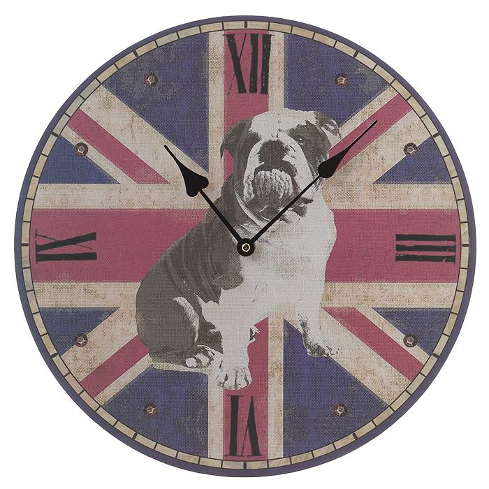 """Феникс-Презент Часы настенные """"Английский бульдог"""". 35820"""