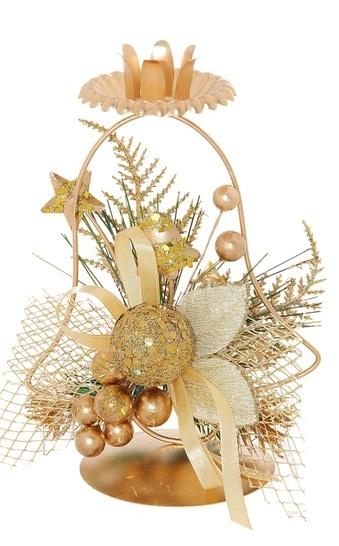 Подсвечник Sima-land Золотой овал, цвет: золотистый. 706021706021