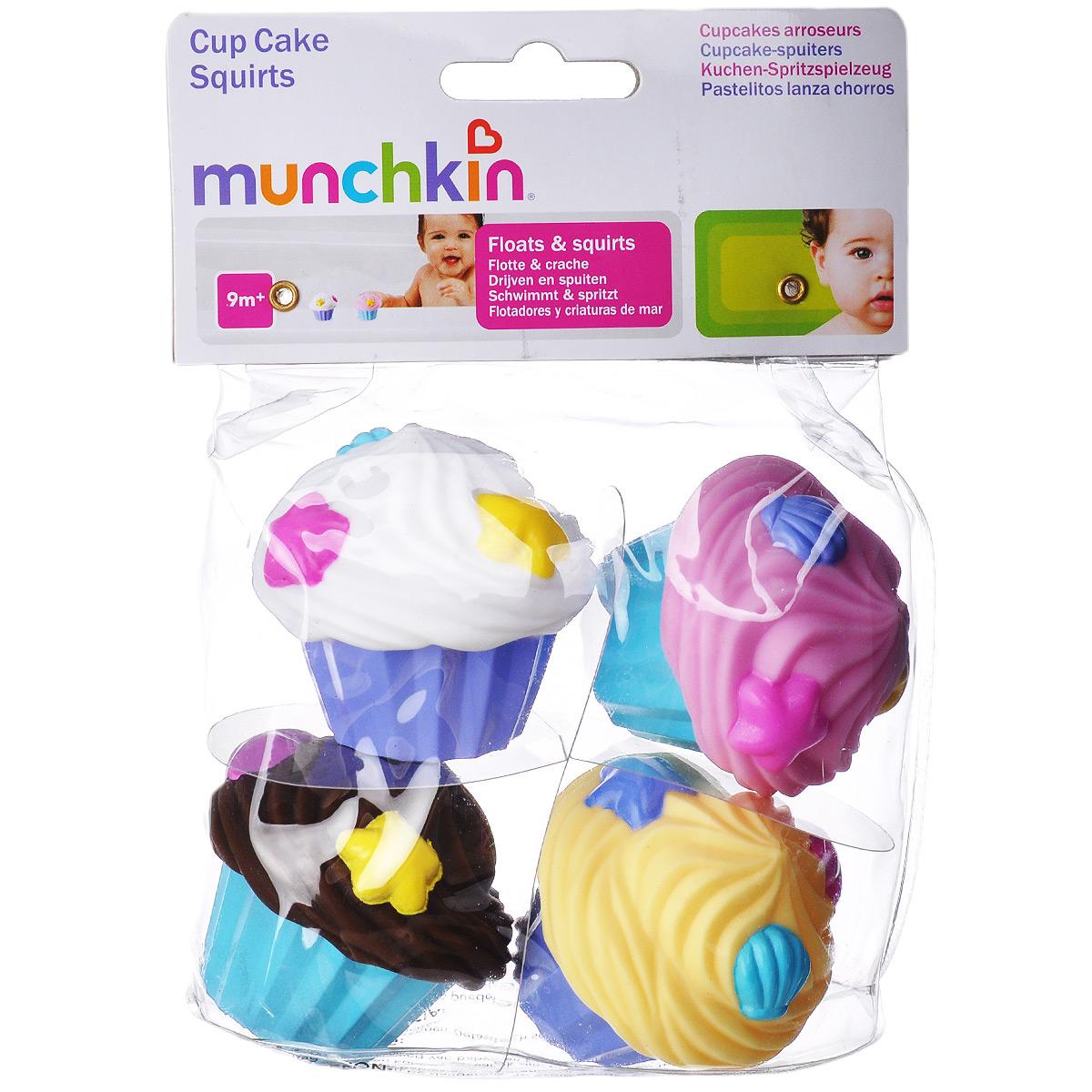 Игровой набор для ванны Munchkin Кексики11950 NEWИгровой набор для ванны Munchkin Кексики привлечет внимание вашего малыша и превратит купание в веселую игру. В набор входят четыре игрушки, брызгалки, выполненные в виде кексов с восхитительными видами глазури - ваниль, клубника, шоколад и сливки. Если в кекс набрать воды, а потом нажать на него, то из него брызнет тонкая струйка воды, что несомненно позабавит кроху. Их легко сжимать в маленькой детской ручке. Игровой набор Кексики отлично подходит для развития координации зрения и движений ребенка и понимания причинно-следственных связей. Он также пригодится и для детей более старшего возраста для игры в кондитеров и дополнит наборы игрушечных кухонь.