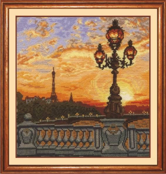Набор для вышивания крестом Парижский вечер, 21 х 23 см П-23693918