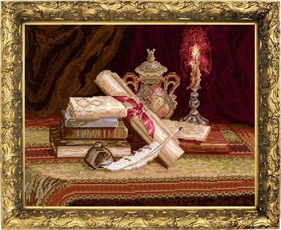 Набор для вышивания крестом Ночная поэма, 37 см х 28 см. Н-11693915