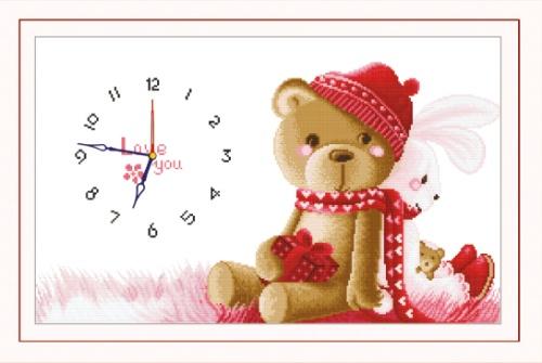 Набор для вышивания крестом Hobby & Pro Скучаю без тебя, 48 см х 27 см. 77051057705105
