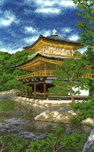 Набор для вышивания крестом Hobby & Pro Золотой павильон, 29 см х 18 см. 691124691124