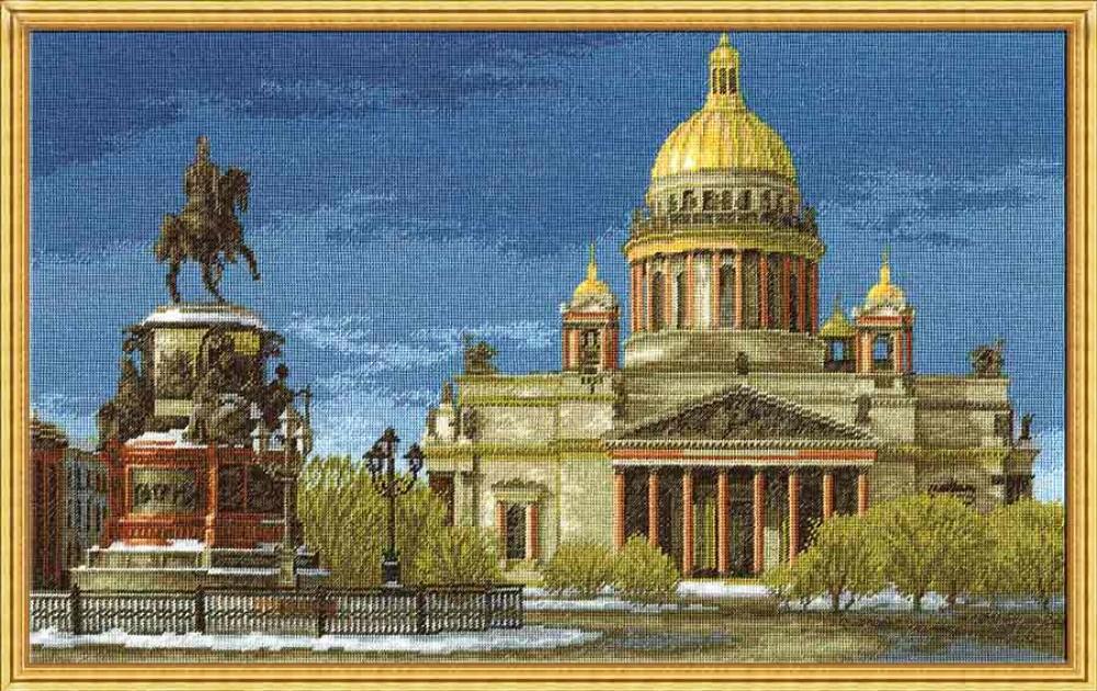 Набор для вышивания крестом Hobby & Pro Исаакиевский собор, 45 см х 28 см. 685686382