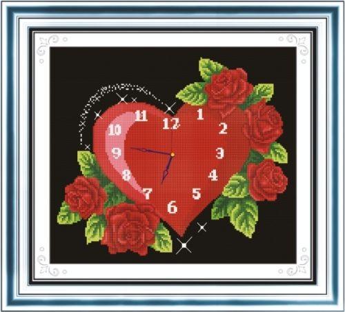 Набор для вышивания крестом Hobby & Pro Вечная любовь, 27 см х 23 см. S-0407705103