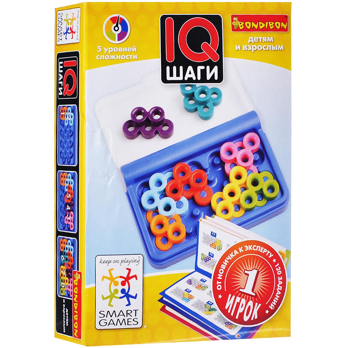 Логическая игра Bondibon Smartgames IQ-ШагиВВ1055Захватывающая карманная головоломка, которую удобно брать в дорогу. Правда ли, что странные композиции, составленные из разноцветных колечек головоломки в пластмассовой коробочке IQ-Шаги, могут изменить жизнь? Эксперименты показывают, что любой человек может развить свою гениальность путем умственных упражнений, и логические игры - лучшая помощь в этом деле. Игра с виду может показаться очень простой, но стоит открыть задание и попытаться заполнить игровое поле причудливыми деталями, то сразу включается логическое и пространственное мышление. Маленькая коробочка с игрой содержит 8 деталей и имеет 120 заданий разных уровней сложности. Если в вашем кармане или сумочке лежит такая игра, то вы всегда сможете поддерживать свой интеллектуальный тонус. Развивайте свой ум и реакцию, становитесь счастливее и уверенней в себе, решая интересные логические задачи! Игра имеет 5 уровней сложности. С ее помощью можно развить логическое мышление и познавательные способности, социальное развитие,...