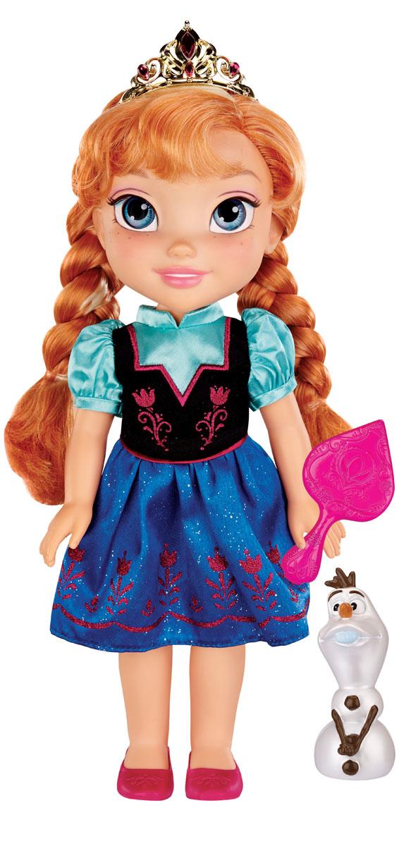 Disney Princess Кукла Холодное сердце Малышка Анна310020Кукла Disney Frozen Toddler Anna непременно понравится вашей дочурке. Кукла с необыкновенными глазками-линзами выполнена из пластика. Одета малышка Анна в прекрасное платье с подолом синего цвета. У куклы шикарные рыжие локоны, заплетенные в две косички. Голову Анны украшает золотистая тиара. В комплект входят фигурка в виде снеговика Олафа и расческа. Такая куколка очарует вас и вашу дочурку с первого взгляда! Ваша малышка с удовольствием будет играть с принцессой Анной, проигрывая сюжеты из мультфильма или придумывая различные истории. Порадуйте свою дочурку таким замечательным подарком! УВАЖАЕМЫЕ КЛИЕНТЫ! Обращаем ваше внимание на возможные изменения в дизайне расчески. Поставка осуществляется в одном из приведенных вариантов в зависимости от наличия на складе.