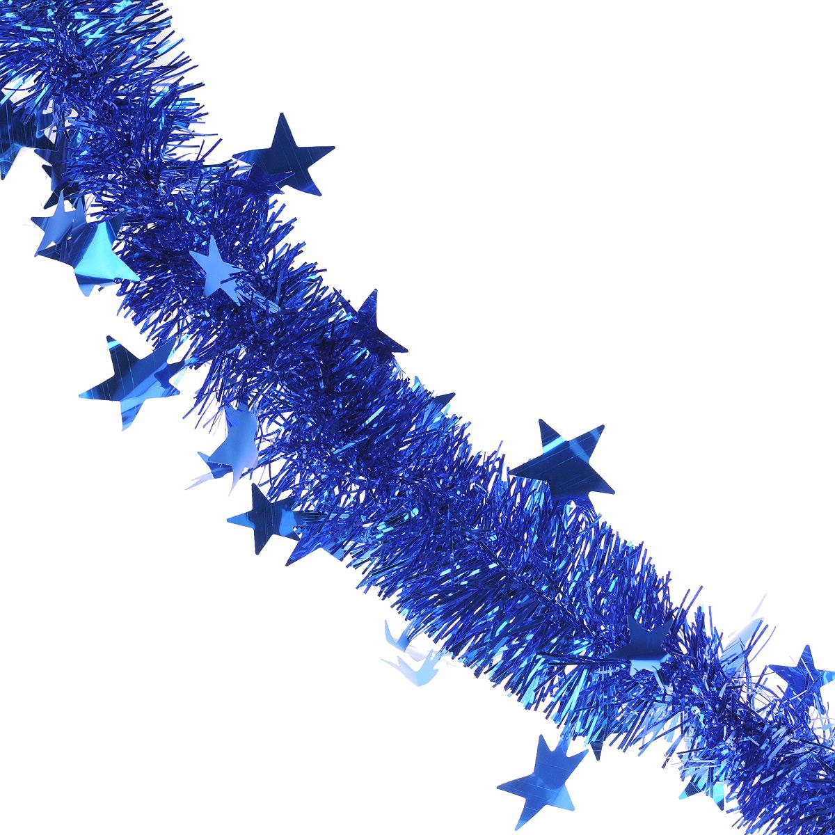 Мишура новогодняя Sima-land, цвет: синий, диаметр 5 см, длина 2 м. 702609702609Мишура новогодняя Sima-land, выполненная из фольги, поможет вам украсить свой дом к предстоящим праздникам. Мишура армирована, то есть имеет проволоку внутри и способна сохранять приданную ей форму. Новогодняя елка с таким украшением станет еще наряднее. Новогодней мишурой можно украсить все, что угодно - елку, квартиру, дачу, офис - как внутри, так и снаружи. Можно сложить новогодние поздравления, буквы и цифры, мишурой можно украсить и дополнить гирлянды, можно выделить дверные колонны, оплести дверные проемы. Коллекция декоративных украшений из серии Зимнее волшебство принесет в ваш дом ни с чем несравнимое ощущение праздника! Создайте в своем доме атмосферу тепла, веселья и радости, украшая его всей семьей.