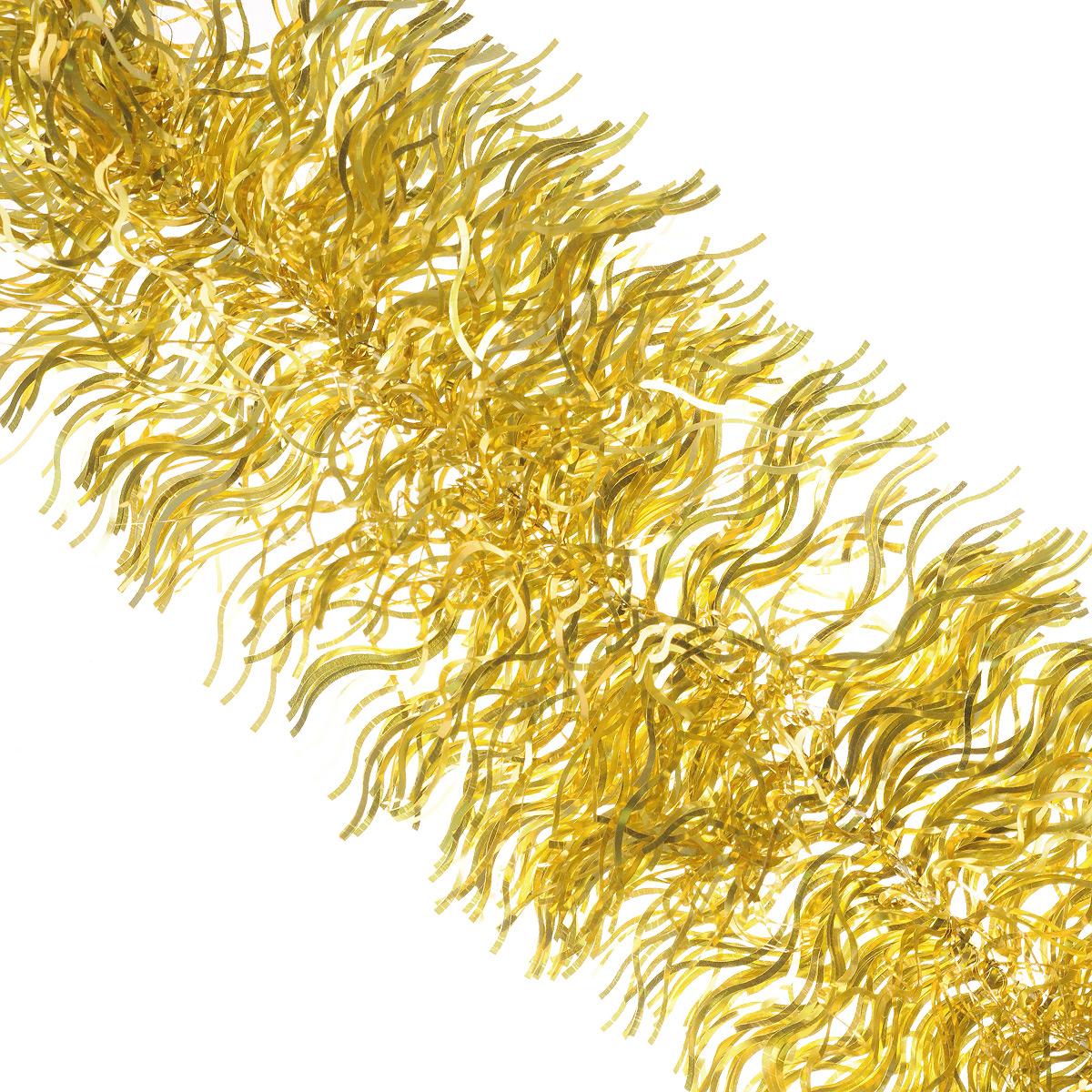 Мишура новогодняя Sima-land, цвет: золотистый, диаметр 20 см, длина 2 м. 702634702634Мишура новогодняя Sima-land, выполненная из фольги, поможет вам украсить свой дом к предстоящим праздникам. Мишура армирована, то есть имеет проволоку внутри и способна сохранять приданную ей форму. Новогодняя елка с таким украшением станет еще наряднее. Новогодней мишурой можно украсить все, что угодно - елку, квартиру, дачу, офис - как внутри, так и снаружи. Можно сложить новогодние поздравления, буквы и цифры, мишурой можно украсить и дополнить гирлянды, можно выделить дверные колонны, оплести дверные проемы. Коллекция декоративных украшений из серии Зимнее волшебство принесет в ваш дом ни с чем несравнимое ощущение праздника! Создайте в своем доме атмосферу тепла, веселья и радости, украшая его всей семьей.