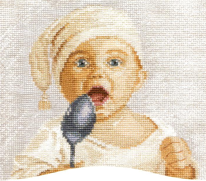 Набор для вышивания крестом Малыш, 20 см х 18 см. М-24544146