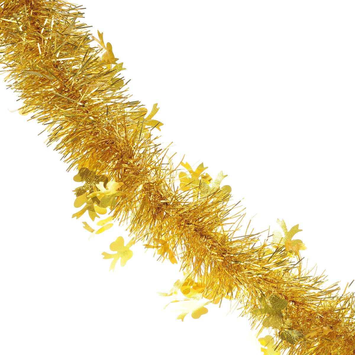 Мишура новогодняя Sima-land, цвет: золотистый, диаметр 9 см, длина 2 м. 706598706598Новогодняя мишура Sima-land, выполненная из фольги, поможет вам украсить свой дом к предстоящим праздникам. А новогодняя елка с таким украшением станет еще наряднее. Мишура армирована, то есть имеет проволоку внутри и способна сохранять приданную ей форму. Новогодней мишурой можно украсить все, что угодно - елку, квартиру, дачу, офис - как внутри, так и снаружи. Можно сложить новогодние поздравления, буквы и цифры, мишурой можно украсить и дополнить гирлянды, можно выделить дверные колонны, оплести дверные проемы. Коллекция декоративных украшений из серии Зимнее волшебство принесет в ваш дом ни с чем несравнимое ощущение праздника! Создайте в своем доме атмосферу тепла, веселья и радости, украшая его всей семьей.