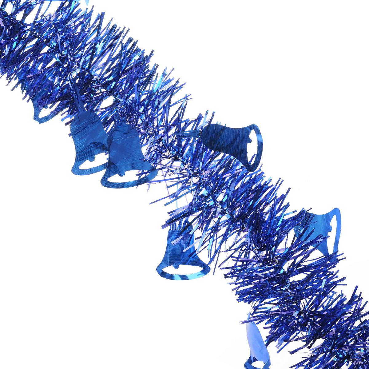 Мишура новогодняя Sima-land, цвет: синий, диаметр 8 см, длина 2 м. 702594702594