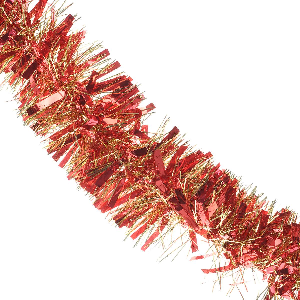 Мишура новогодняя Sima-land, цвет: красный, золотистый, диаметр 9 см, длина 200 см. 702581702581Мишура новогодняя Sima-land, выполненная из фольги, поможет вам украсить свой дом к предстоящим праздникам. Мишура армирована, то есть имеет проволоку внутри и способна сохранять приданную ей форму. Новогодней мишурой можно украсить все, что угодно - елку, квартиру, дачу, офис - как внутри, так и снаружи. Можно сложить новогодние поздравления, буквы и цифры, мишурой можно украсить и дополнить гирлянды, можно выделить дверные колонны, оплести дверные проемы. Коллекция декоративных украшений из серии Зимнее волшебство принесет в ваш дом ни с чем несравнимое ощущение праздника! Создайте в своем доме атмосферу тепла, веселья и радости, украшая его всей семьей.