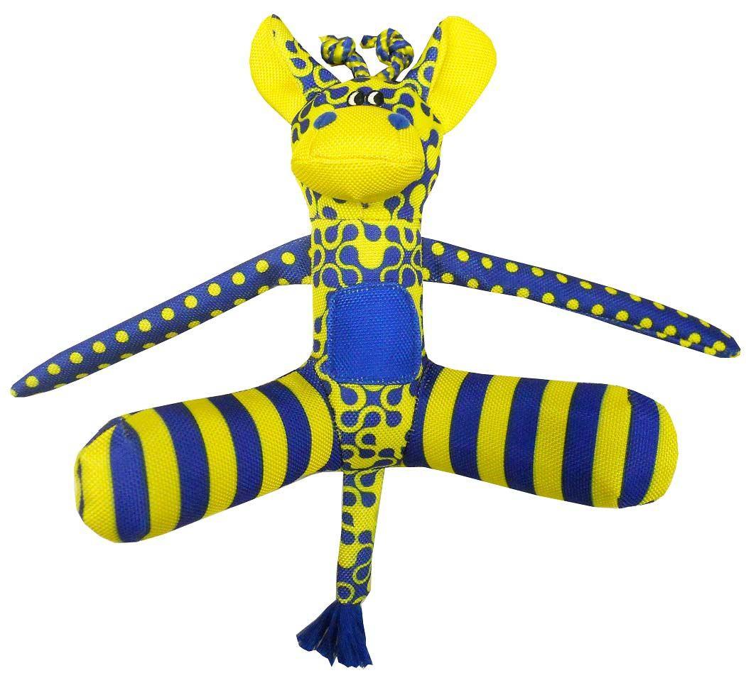 Игрушка для собак R2P Pet High-Viz. Кенгуру, 23 см. 04170417Игрушка для собак R2P Pet High-Viz. Кенгуру - прекрасный подарок для вашего питомца! Собаки воспринимают цвет не так, как человек. Игрушки серии High-Viz разработаны с учетом особенностей зрения собак - сочетание желтого и сине-фиолетового является оптимальным и повышает видимость игрушки. Высококонтрастные расцветки наиболее подходят для глаз собак, стимулируют их внимание и привлекают к игре. Игрушка в виде кенгру выполнена из текстиля. Размер игрушки: 23 см х 26 см х 9 см.