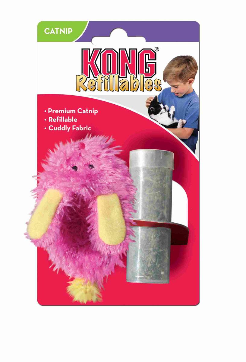 """Игрушка для кошек Kong """"Тапочек"""", с тубом кошачьей мяты, цвет: розовый NS41E"""
