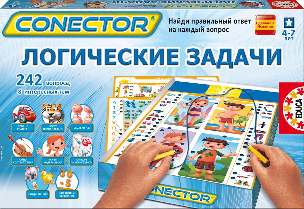 Электровикторина Educa Conector Логические задачи16123Электровикторина Educa Conector Логические задачи - это увлекательная игра в вопросы и ответы, которая поможет детям открыть и узнать много нового в различных областях знаний. Вопросы по каждой теме были разработаны профессиональными педагогами с учетом детской психологии. Вопросы соединяются с ответами посредством электронной схемы. Правильные ответы на всех карточках расположены по-разному, поэтому ребенок не может схитрить и должен руководствоваться собственными знаниями. Одновременно может играть один и более игроков. Комплект игры состоит из электронной схемы для самопроверки и 8 иллюстрированных карточек, содержащих 242 вопроса на различные темы: Как ты одеваешься?, Чего не хватает?, Найди лишнее, Сколько их?, Кому принадлежит?, Логические последовательности, Сложение и вычитание, Найди соответствие. Также прилагается инструкция на русском языке. Необходимо докупить 2 батарейки напряжением 1,5V типа LR6 (не входят в комплект). ...