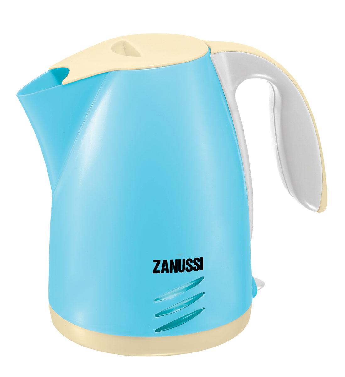 HTI Чайник Zanussi, цвет: голубой, белый, персиковый 1680851.00