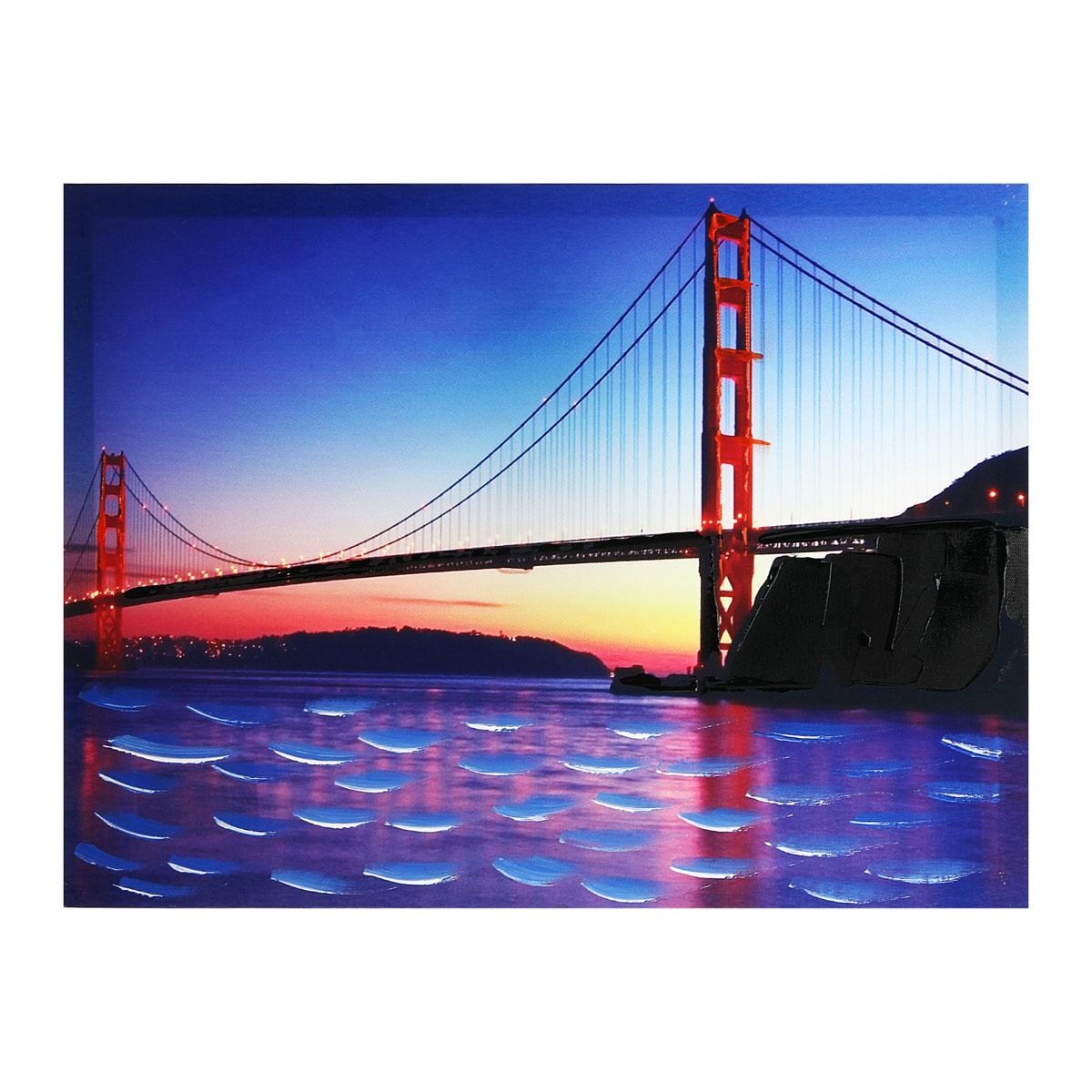 Картина на холсте Sima-land Мост на закате, 30 см х 40 см296649Цветовая гамма и интерьер влияют на настроение каждого, именно поэтому так важны детали, которые нас окружают. Знатоки интерьерных решений стараются применять самые разнообразные решения при художественном оформлении внутреннего пространства и использовать все возможные материалы. Картина на холсте Sima-land Мост на закате - это хорошее решение для интерьера по выгодной цене.
