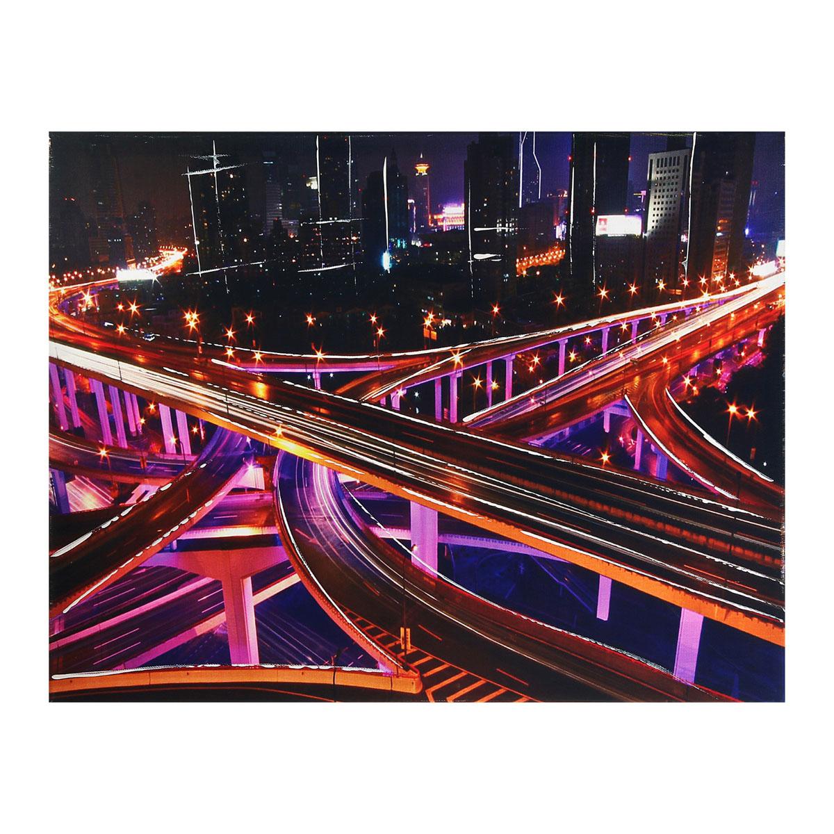 Картина на холсте Sima-land Мосты мегаполиса, 50 см х 40 см296666Цветовая гамма и интерьер влияют на настроение каждого, именно поэтому так важны детали, которые нас окружают. Знатоки интерьерных решений стараются применять самые разнообразные решения при художественном оформлении внутреннего пространства и использовать все возможные материалы. Картина на холсте Sima-land Мосты мегаполиса - это хорошее решение для интерьера по выгодной цене.