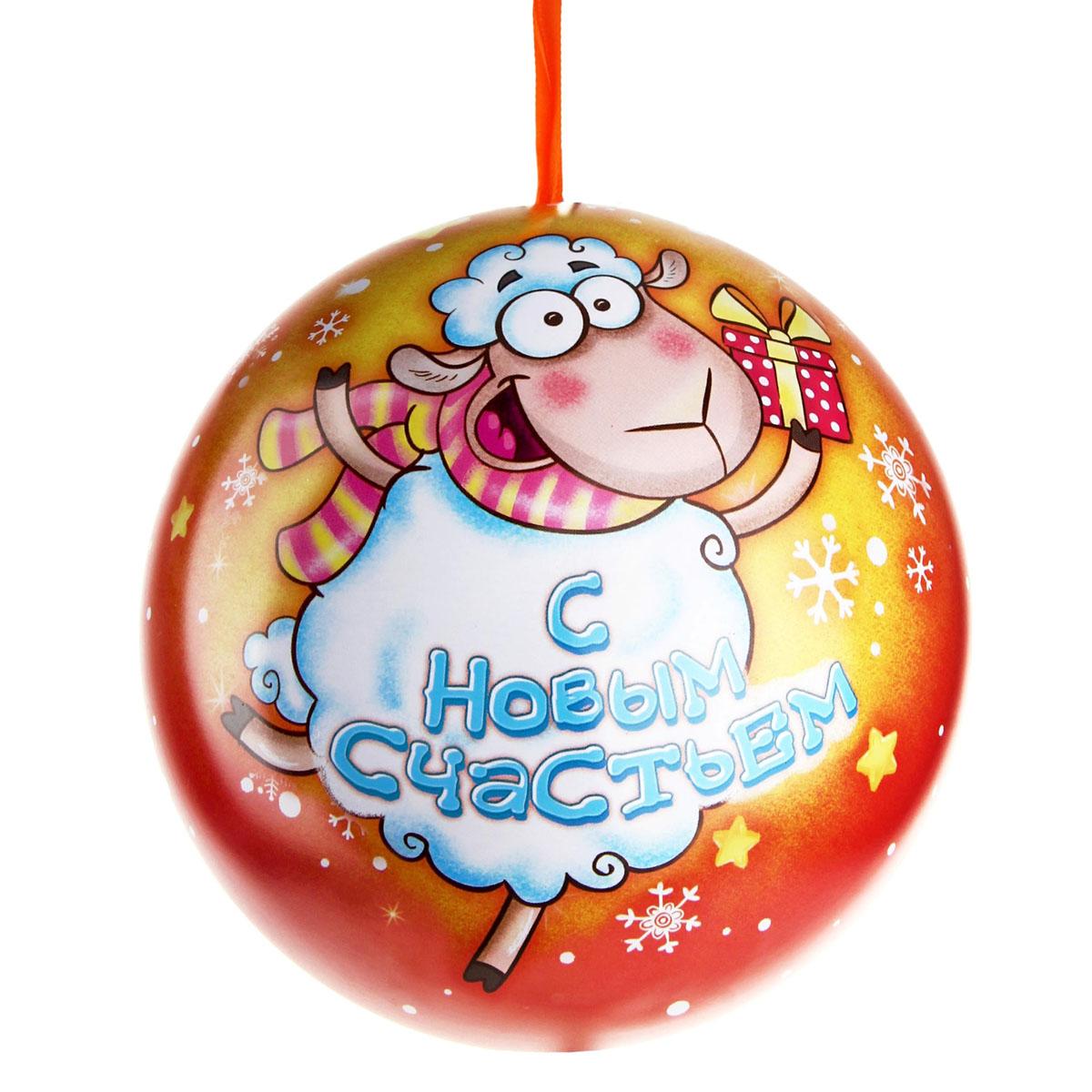 Коробка подарочная Sima-land Шар. С Новым годом, диаметр 12 см499539Подарочная коробка Sima-land С Новым годом выполнена из высококачественного металла в форме шара и предназначена для праздничной упаковки новогодних подарков. Коробка декорирована новогодним рисунком. Подарочная коробка снабжена текстильной петелькой. Подарок, преподнесенный в оригинальной упаковке, всегда будет самым эффектным и запоминающимся. Окружите близких людей вниманием и заботой, вручив презент в нарядном, праздничном оформлении.