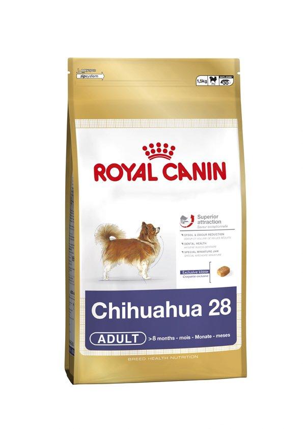 Корм сухой Royal Canin Chihuahua Adult, для собак породы чихуахуа в возрасте с 8 месяцев, 500 г318005Корм сухой Royal Canin Chihuahua Adult - полнорационное питание для собак породы чихуахуа в возрасте с 8 месяцев и на протяжении всей жизни. Высокая вкусовая привлекательность. Стимулирует аппетит даже у самых разборчивых чихуахуа благодаря отборным натуральным ароматизаторам и специально адаптированным размерам и форме крокетов. Нормализация стула. Корм для чихуахуа снижает объем и ослабляет неприятный запах экскрементов животного. Уменьшение риска возникновения зубного камня. Благодаря хелаторам кальция и специально подобранной текстуре крокетов, которая оказывает чистящее воздействие, данный продукт помогает ограничить образование зубного камня у чихуахуа. В магазинах партнеров Royal Canin вы сможете купитькорм, обогащенный всеми необходимыми элементами. Специально для миниатюрных челюстей. Крокеты идеально подходят для крошечных челюстей чихуахуа. Форма крокет - крайне важный фактор нормального развития челюстей собак миниатюрных и...