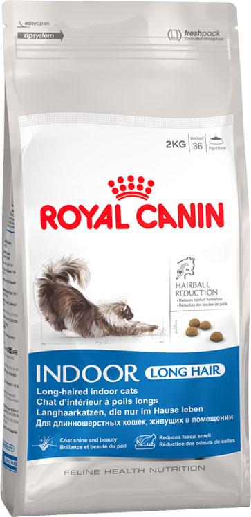 Корм сухой Royal Canin Indoor Long Hair для кошек с длинной шерстью, живущих в помещении, 2 кг492020-492320Сухой корм Royal Canin - это полнорационный сбалансированный корм для взрослых длинношерстных кошек (в возрасте от 1 года до 7 лет), живущих в помещении. Образ жизни кошки, постоянно живущей в помещении, и ее длинная шерсть - факторы, обуславливающие необходимость специального питания. У длинношерстных кошек, постоянно находящихся в помещении, в желудке скапливается большое количество волосяных комочков. Домашний образ жизни увеличивает риск появления избыточного веса у кошек и замедляет транзит пищи в кишечнике вследствие нарушений моторики пищеварительного тракта. Уникальный комплекс питательных веществ в корме способствует обновлению и сохранению красоты длинной шерсти кошек. Состав: дегидратированное мясо домашней птицы, кукуруза, изолят растительного белка, пшеница, рис, животные жиры, растительная клетчатка, гидролизат белков животного происхождения, минеральные вещества, соевое масло, свекольный жом, рыбий жир, дрожжи,...