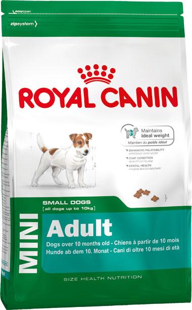 Корм сухой Royal Canin Mini Adult, для собак мелких размеров с 10 месяцев до 8 лет, 8 кг306080Корм сухой Royal Canin Mini Adult - полнорационный сухой корм для поддержания прекрасной физической формы собак мелких размеров (вес взрослой собаки до 10 кг) с 10 месяцев до 8 лет. Поддержание идеального веса. L-карнитин стимулирует метаболизм жиров в организме. Удовлетворяет высокие энергетические потребности собак мелких размеров благодаря точно рассчитанной энергоемкости рациона (3737 ккал/кг) и сбалансированному содержанию белка (26%). Улучшенные вкусовые качества. Стимулирует аппетит благодаря своим уникальным свойствам. Текстура, форма и размер крокет специально разработаны для облегчения захвата корма. Тщательно отобранные ингредиенты, натуральные ароматизаторы и современная упаковка, сохраняющая свежесть и аромат продукта, гарантируют его превосходный вкус. Здоровая шерсть. Питает шерсть благодаря включению в состав корма серосодержащих аминокислот (метионин и цистин), жирных кислот Омега 6 и витамина А. Здоровье зубов. Помогает замедлить...