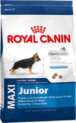 Корм сухой Royal Canin Maxi Junior, для щенков собак крупных размеров в возрасте до 15 месяцев, 15 кг192150Сухой корм Royal Canin Maxi Junior - полнорационный сухой корм для щенков собак крупных размеров (вес взрослой собаки от 26 до 44 кг) в возрасте до 15 месяцев. Эксклюзивная комбинация питательных веществ обеспечивает безопасность пищеварения (L.I.P. белки) и баланс кишечной флоры (пребиотики, ФОС, МОС), а также способствует нормальной консистенции стула. Продолжительный рост - умеренная калорийность. Удовлетворяет умеренные энергетические потребности щенков крупных пород с продолжительным периодом роста. Укрепление костей и суставов. Способствует хорошей минерализации скелета у щенков крупных пород благодаря сбалансированному содержанию калорий и минералов (кальция и фосфора), укрепляя таким образом кости и суставы. Естественные механизмы защиты. Способствует поддержанию естественных защитных сил организма щенка благодаря запатентованному комплексу антиоксидантов. Состав: рис, дегидратированные белки животного происхождения (птица),...