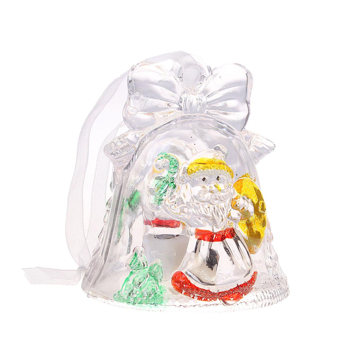 """Новогоднее подвесное украшение Sima-land """"Колокольчик и Дед Мороз"""", с подсветкой"""