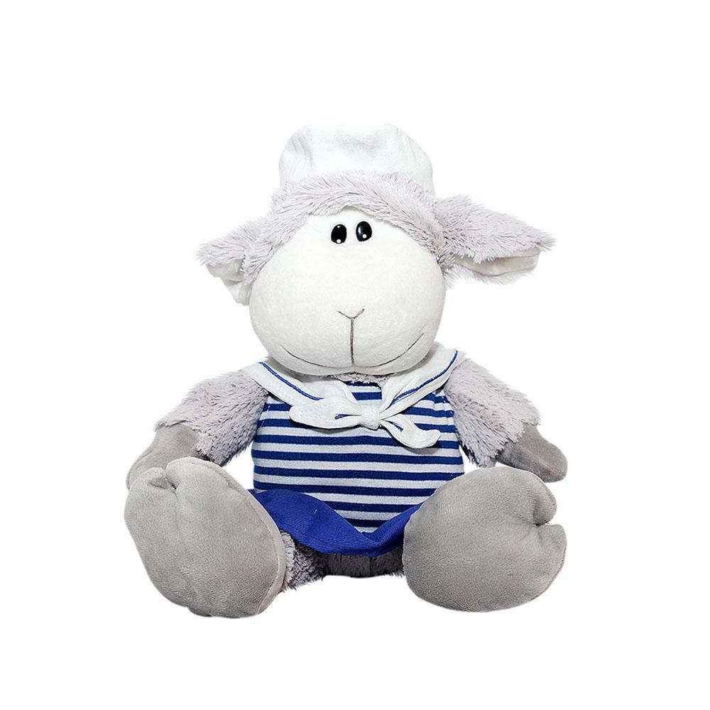 Мягкая игрушка Button Blue Овечка-морячка, 28 см40-DN13-0270AОчаровательная мягкая игрушка Button Blue Овечка-морячка выполнена в виде трогательной овечки. Игрушка изготовлена из высококачественного текстильного материала с набивкой из синтепона. Игрушка невероятно мягкая и приятная на ощупь, вам не захочется выпускать ее из рук. Милая овечка одета в костюм морячки, с полосатой тельняшкой и синей юбочкой. Удивительно мягкая игрушка принесет радость и подарит своему обладателю мгновения нежных объятий и приятных воспоминаний. Великолепное качество исполнения делают эту игрушку чудесным подарком к любому празднику. Трогательная и симпатичная, она непременно вызовет улыбку у детей и взрослых.