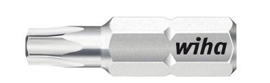 Биты Standard 7015SB T10x25 T15x25 T20x25 T25x25 T30x25 T40x25, 6 ед Wiha 0787307873Прочные и мощные биты - универсалы для домашних, ремесленных или промышленных нужд. Благодаря параметрам твердости 59 - 61 HRC оптимальны для закручивания как вручную, так и с помощью электроинструмента Размер: T10; T15; T20; T25; T30; T40;