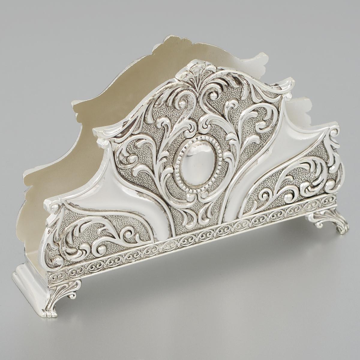 Салфетница Marquis. 2160-MR2160-MRСалфетница Marquis выполнена из стали с никель-серебряным покрытием и украшена изящным рельефом в классическом стиле. Такая салфетница прекрасно оформит праздничный стол и подчеркнет ваш изысканный вкус.