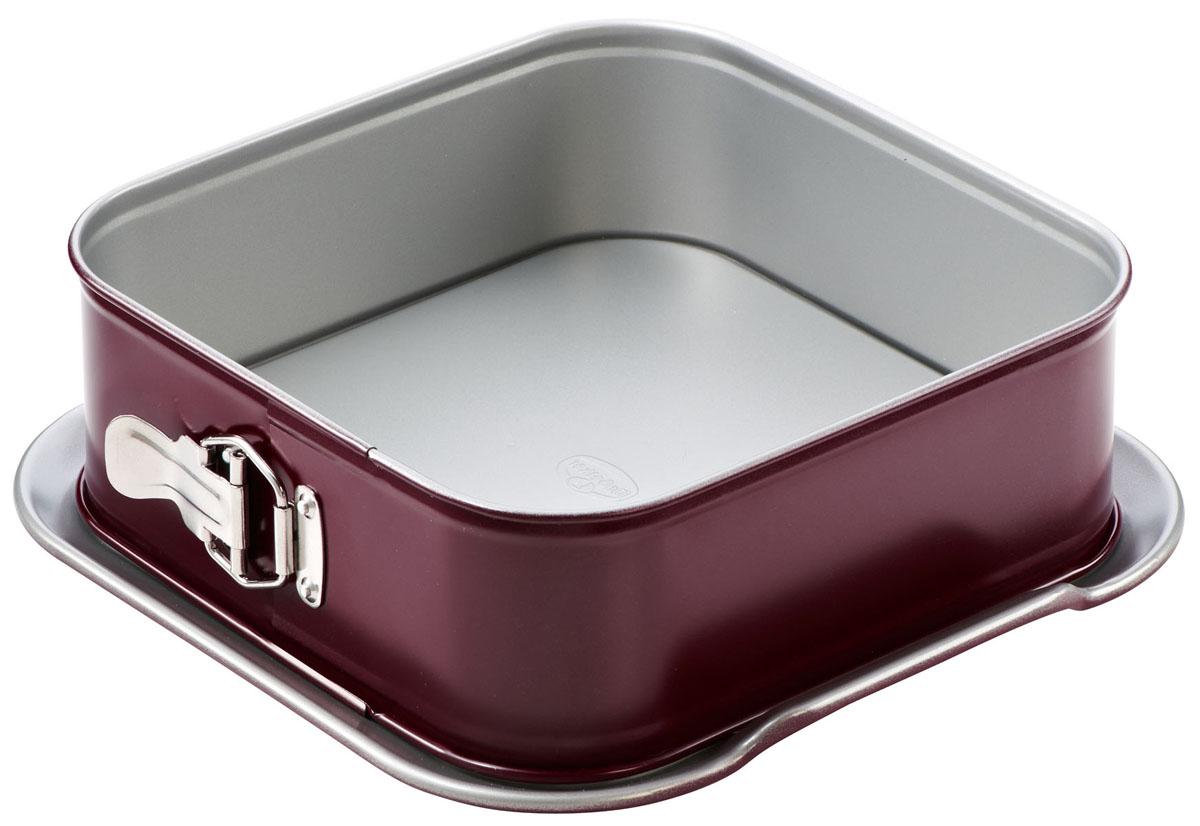 Форма для выпечки разъемная Dr.Oetker Comfort, квадратная, с антипригарным покрытием, цвет: вишневый, 25 х 25 см2478Квадратная форма для выпечки Dr.Oetker Comfort выполнена из высококачественной углеродистой стали и снабжена антипригарным покрытием, что обеспечивает форме прочность и долговечность. Имеет разъемный механизм. Форма равномерно и быстро прогревается, что способствует лучшему пропеканию пищи. Данную форму легко чистить. Готовая выпечка без труда извлекается из нее. Изделие устойчиво к воздействию фруктовых кислот. Форма подходит для использования в духовке с максимальной температурой 250°С. Перед каждым использованием форму необходимо смазать небольшим количеством масла. Чтобы избежать повреждений антипригарного покрытия, не используйте металлические или острые кухонные принадлежности. Можно мыть в посудомоечной машине.