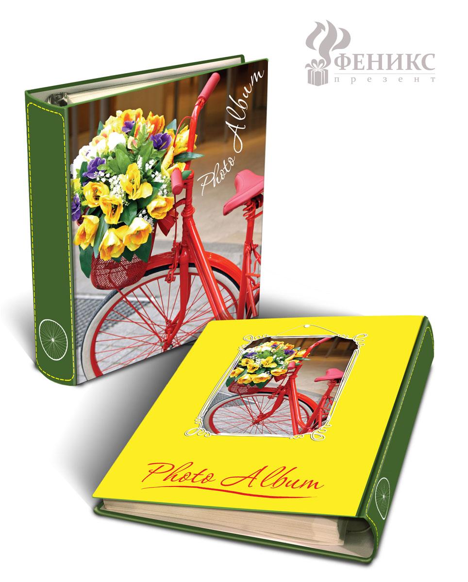 """Фотоальбом """"Велосипедная прогулка"""", на кольцах, 50 магнитных листов, 27 х 19 см"""