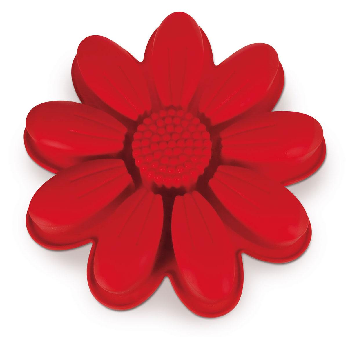 Форма для выпечки Dr.Oetker Flexxibel, цвет: красный, диаметр 27 см2189Форма Dr.Oetker Flexxibel будет отличным выбором для всех любителей выпечки. Благодаря тому, что форма изготовлена из силикона, готовую выпечку вынимать легко и просто. Изделие выполнено в форме подсолнуха. Форма прекрасно подходит для выпечки различных десертов. Это порционная форма для приготовления нескольких небольших порций. Она идеальна для одновременного приготовления в одной форме нескольких блюд на различные вкусы. С такой формой вы всегда сможете порадовать своих близких оригинальной выпечкой. Материал изделия устойчив к фруктовым кислотам, может быть использован в духовках, микроволновых печах, холодильниках и морозильных камерах (выдерживает температуру от -25°C до 250°C). Антипригарные свойства материала позволяют готовить без использования масла. Можно мыть и сушить в посудомоечной машине. При работе с формой используйте кухонный инструмент из силикона - кисти, лопатки, скребки. Не ставьте форму на электрическую...