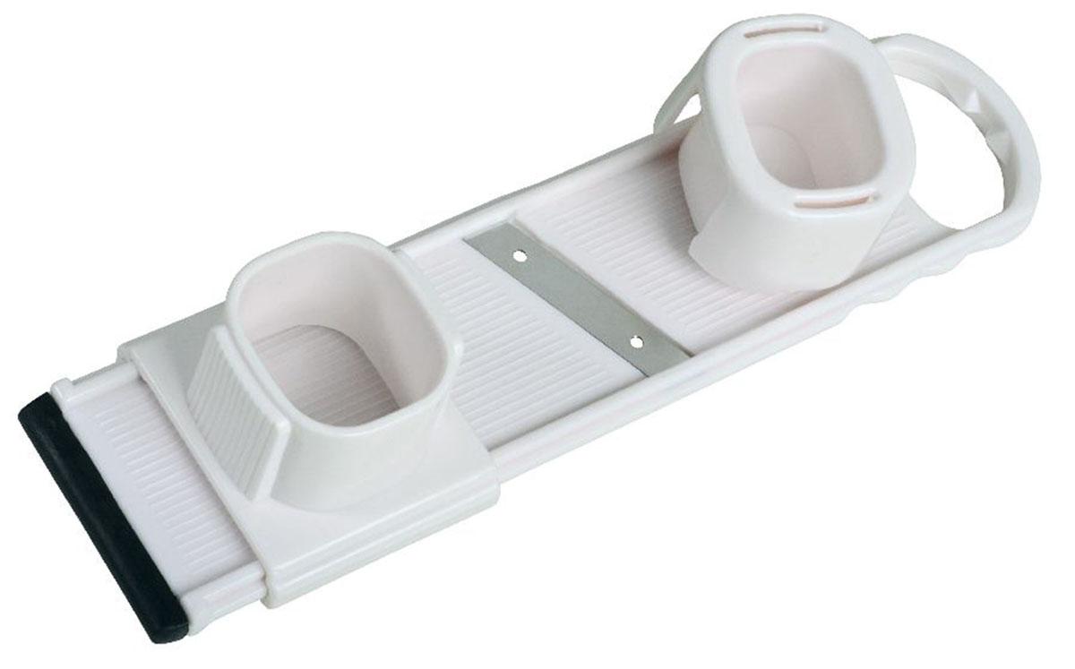 Терка для измельчения овощей с держателем45588Предназначена для измельчения продуктов, держатель предохраняет пальцы от порезов