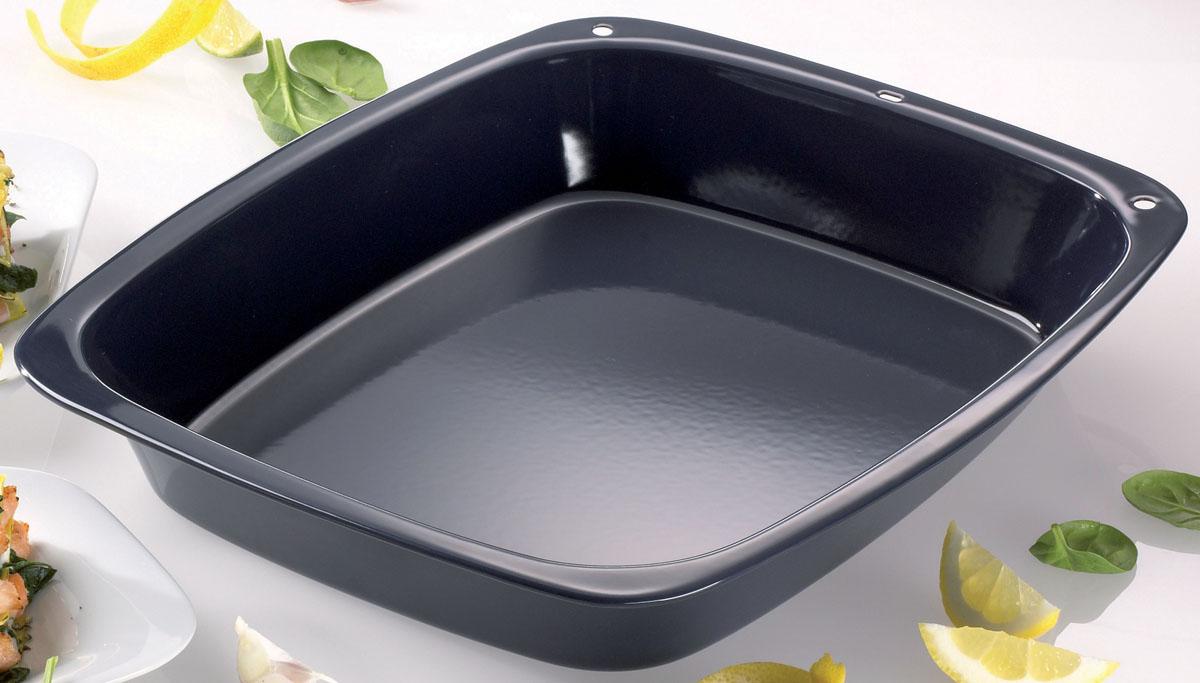 Форма для выпечки Dr.Oetker Kreativ, прямоугольная, с эмалевым покрытием, цвет: синий, 33 х 27 см1231Прямоугольная форма для выпечки Dr.Oetker Kreativ выполнена из высококачественной углеродистой стали и снабжена цветным эмалевым покрытием, что обеспечивает форме прочность и долговечность. Форма равномерно и быстро прогревается, что способствует лучшему пропеканию пищи. Данную форму легко чистить. Готовая выпечка без труда извлекается из нее. Изделие устойчиво к воздействию фруктовых кислот. Форма подходит для использования в духовке с максимальной температурой 400°С. Перед каждым использованием форму необходимо смазать небольшим количеством масла. Можно мыть в посудомоечной машине.