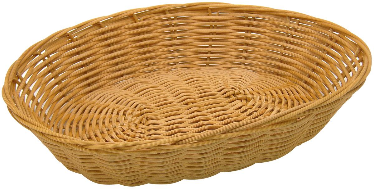 Корзинка плетеная Fackelmann, 28 х 22 х 6 см38294Плетеная корзинка Fackelmann, изготовленная из пластика, прекрасно подходит для сервировки стола. Идеальное решение для красивой подачи и хранения фруктов, хлеба, ягод и овощей. Такая корзинка красиво дополнит интерьер кухни. Можно мыть в посудомоечной машине.