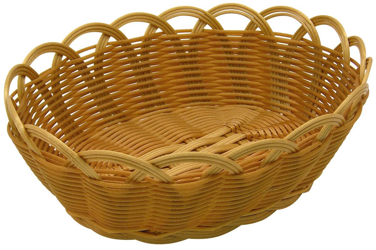 Корзинка плетеная Fackelmann, 23 см х 18 см х 9 см38299Плетеная корзинка Fackelmann изготовлена из устойчивого к воздействию окружающей среды пластика. Идеально подходит для хранения выпечки, конфет, фруктов, косметики, рукоделия и оформления подарков. Срок эксплуатации корзины может составлять десятки лет. Она не требует тщательного ухода, не впитывает запахи, не боится воды, не ломается и не разрушается от перепада температур. Плетеная корзинка Fackelmann отлично впишется в интерьер вашего дома.