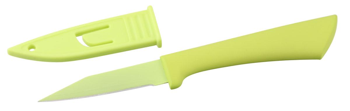 HAPPY Нож д/чистки овощей с чехлом, 8/20 см27104Предназначен для чистки овощей и фруктов
