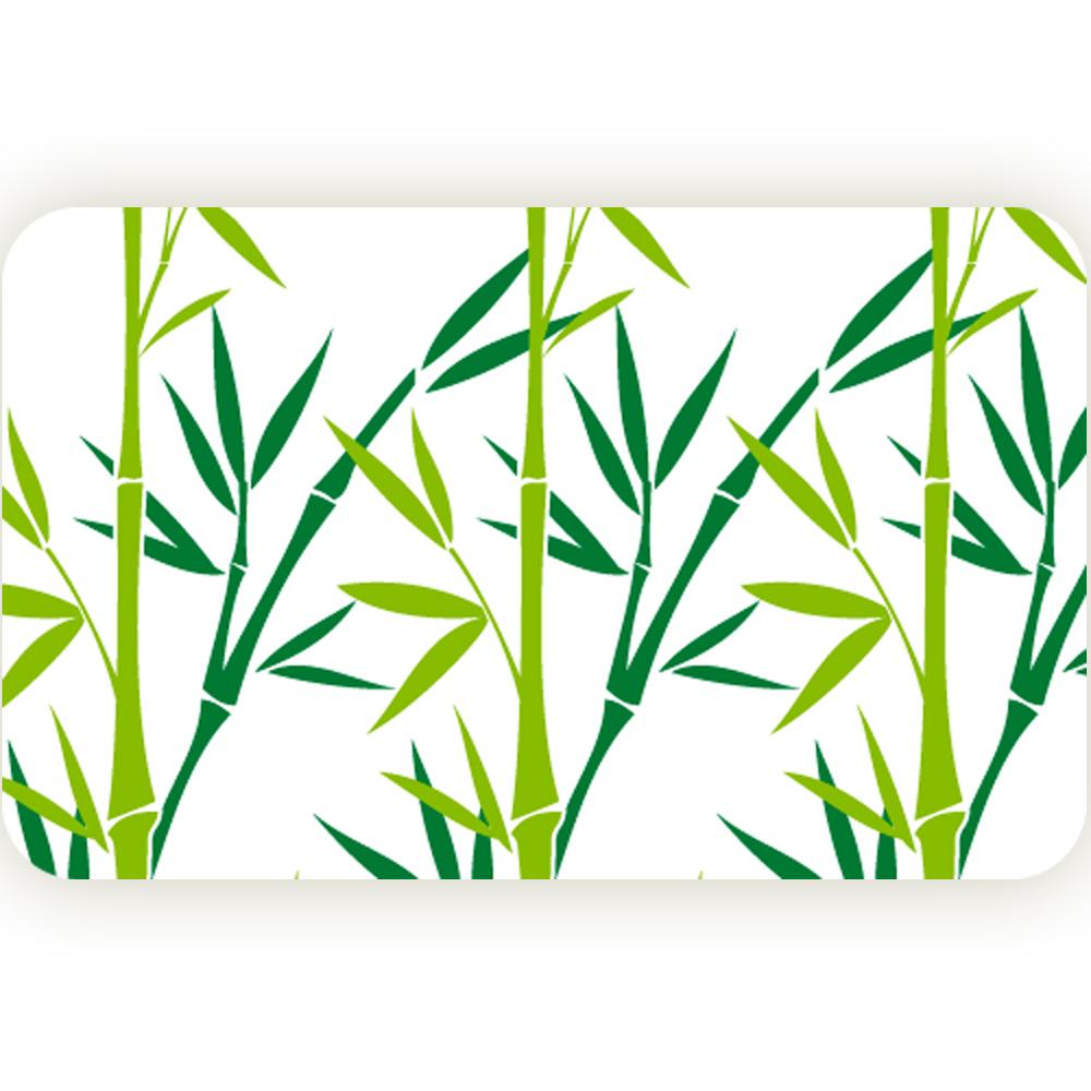 "Коврик для ванной комнаты Tatkraft ""Green Bamboo"", 50 см х 80 см 14954"