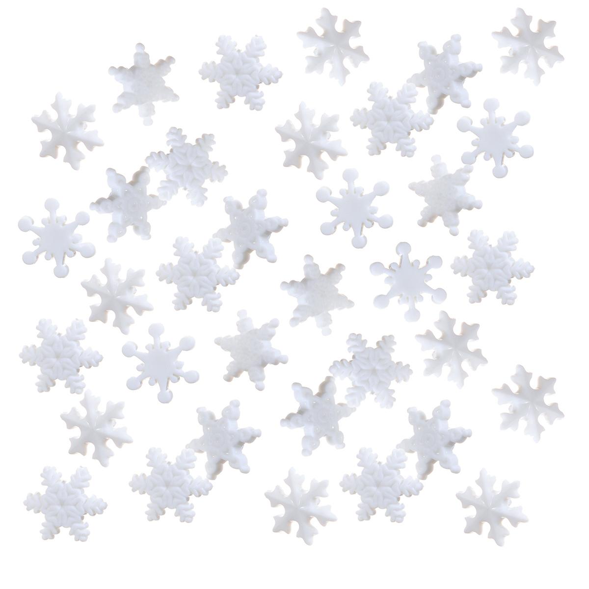 Пуговицы декоративные Dress It Up Звездочки, снежинки, 35 шт. 77024787702478Набор Dress It Up Звездочки, снежинки состоит из 35 декоративных пуговиц, выполненных из пластика в форме звездочек и снежинок. Такие пуговицы подходят для любых видов творчества: скрапбукинга, декорирования, шитья, изготовления кукол, а также для оформления одежды. С их помощью вы сможете украсить открытку, фотографию, альбом, подарок и другие предметы ручной работы. Пуговицы разных цветов имеют оригинальный и яркий дизайн.