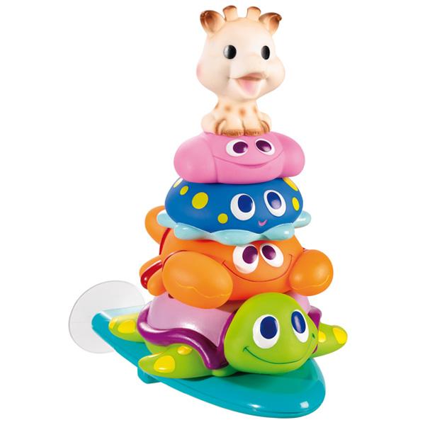 Игрушка для ванны Vulli Пирамидка523409Игрушка-пирамидка для ванны Vulli непременно понравится вашему ребенку и превратит купание в веселую игру! Игрушка собирается путем нанизывания на стержень с основанием четырех ярких колечек в виде фигурок веселых животных. Основание фиксируется на ванну при помощи присоски. Игрушка изготовлена из абсолютно безопасных для ребенка материалов. Фигурки не тонут в воде. Игрушка-пирамидка для ванны Vulli способствует развитию воображения, тактильных ощущений и мелкой моторики рук, знакомит ребенка с понятиями цвета и размера предмета, а также тренирует логическое мышление.